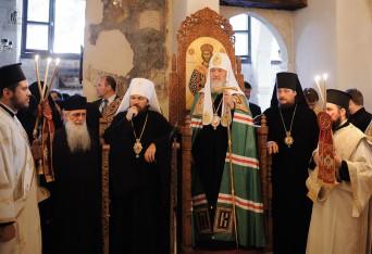 Патиарх Кирилл в монастыре св. Ираклидия