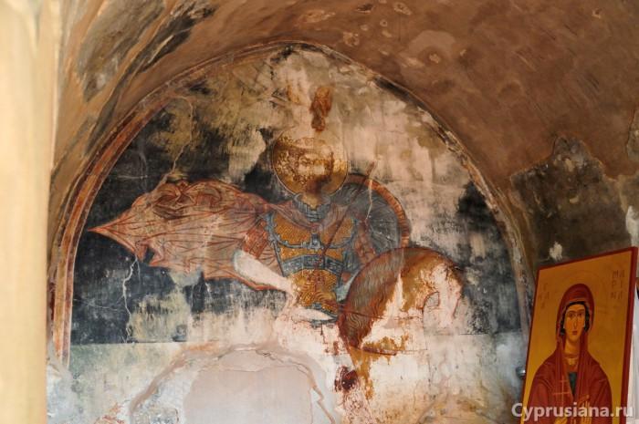 Фреска с изображением св. Евстафия