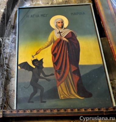 Икона св. Марины в аббатстве Беллапаис