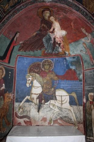 Святой Георгий. Начало XIII века. Роспись в южной экседре нартекса