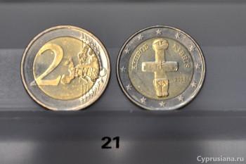 Помосский идол на монете 2 евро
