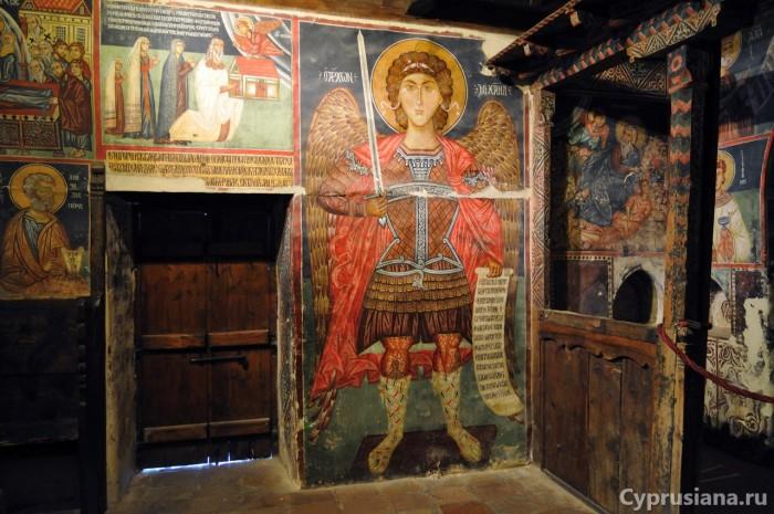 Архангел Михаил. 1474 год. Живописец Мина из Мирианфусы. Ропись церкви Архангела Михаила в Педулас