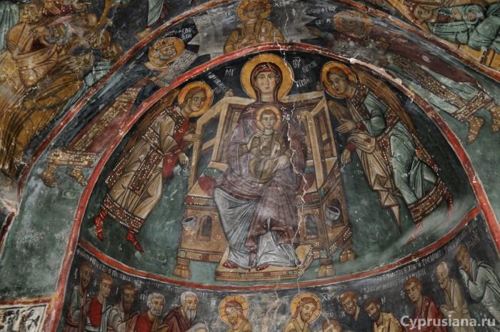 Фреска с изображением Богоматери в церки св. Мавры