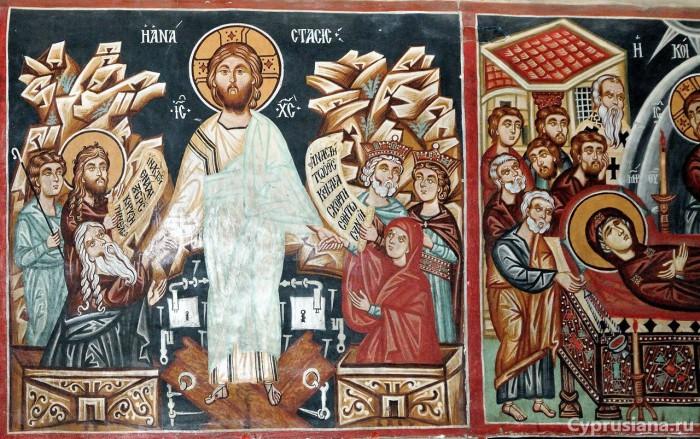 Воскрешение Христа и Успение Богородицы