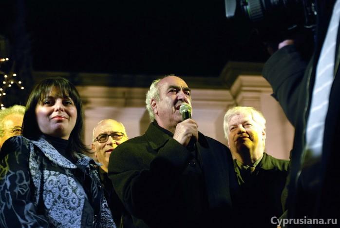 Выступление мэра Андреаса Христу
