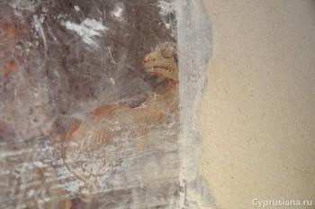 Пирга. Фреска с изображением св. Мамаса в церкви св. Марины