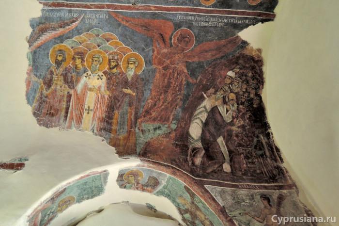 Страшный суд. Роспись нартекса церкви Св. Николая тис Стегис в Какопетрии. XII век