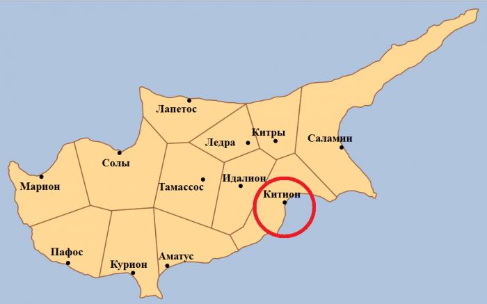 Китион - один из десяти древних городов-государств Кипра
