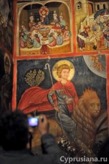 Церковь Святого Креста Агиасмати в Платанистаса (1494, художник Филипп Гул)