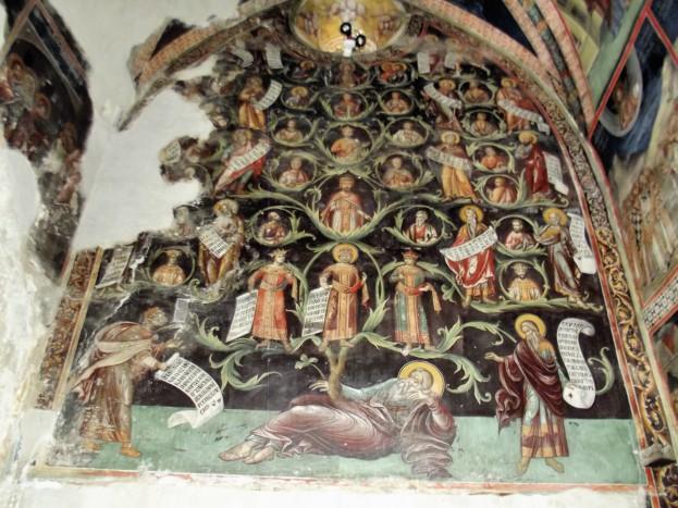 """Древо Иессеево"""" на западной стене Латинской капеллы"""