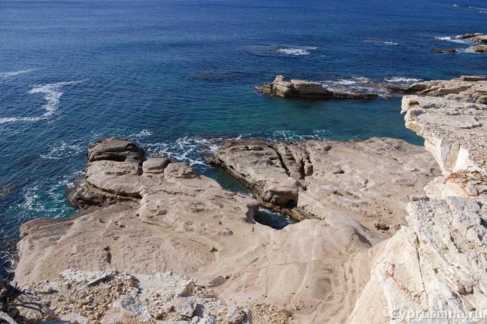 Вид на береговой рельеф сверху