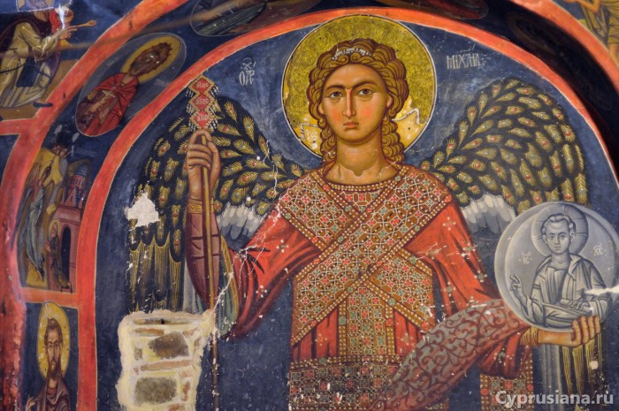 Архангел Михаил. 1494 год. Живописец Филипп Гул. Роспись церкви Св. Креста Агиасмати в Платанистаса