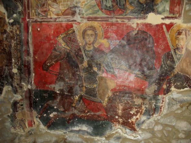 Святой Христофор из церкви в Мутуллас