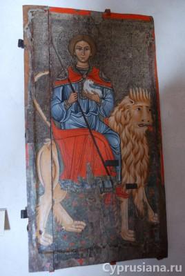Мамант в церкви Панагия Кафолики в Пелендри