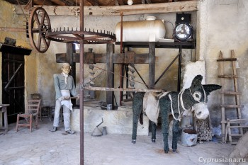 Экспонаты в мельнице