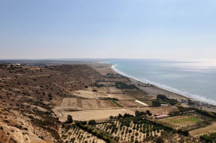 Вид на пляж Куриона