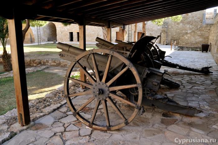 Пушки Круппа в музее форта Ларнаки