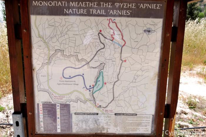 Указатель на тропу Arnies