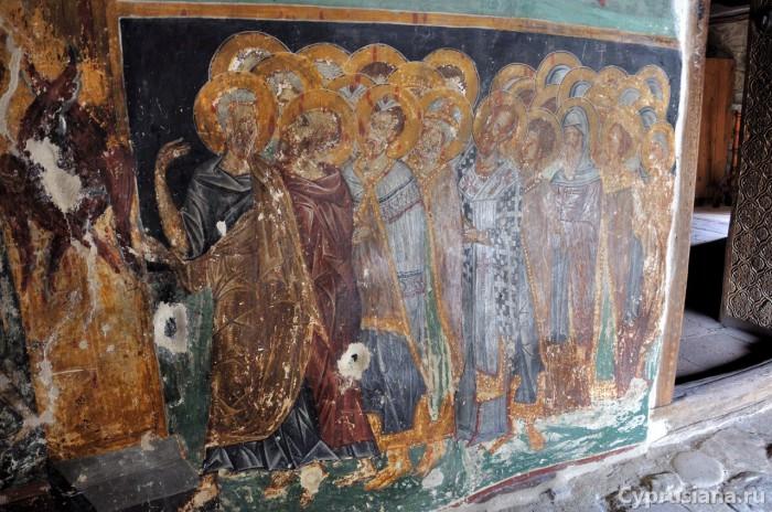 Петр, разговаривающий с Павлом и ведущий группу людей в Рай