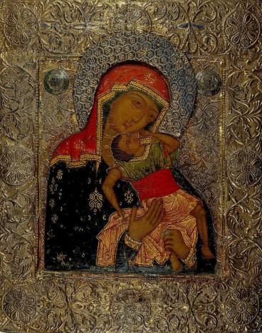 Богоматерь Взыграние младенца. Москва. Конец XVI века
